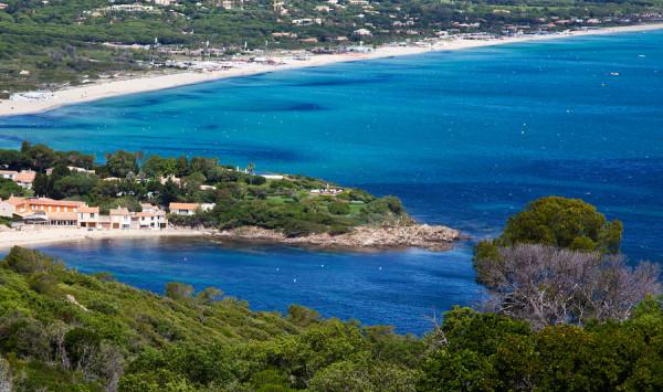Plage de Pampelonne er navnet på denne flott stranden ved St Tropez
